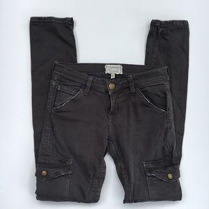 Current Elliott cargo skinny stretch jeans grey 26